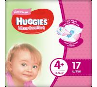 Подгузники Huggies Ultra Comfort для девочек 4+ (10-16 кг) 17 шт