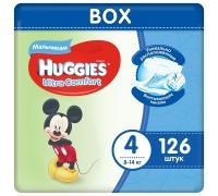 Подгузники Huggies Ultra Comfort для мальчиков 4 (8-14 кг) 126 шт.