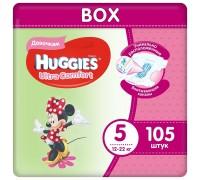 Подгузники Huggies Ultra Comfort для девочек 5 (12-22 кг) 105 шт