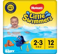 Трусики для купания Huggies® Little Swimmers 2-3 (3-8кг) 12 шт