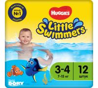 Трусики для купания Huggies® Little Swimmers 3-4 (7-15 кг) 12 шт