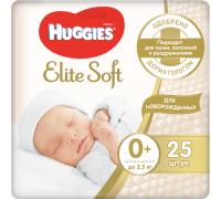 Подгузники Huggies Elite Soft 0 (до 3,5 кг) 25 шт.