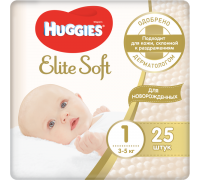 Подгузники Huggies Elite Soft 1 (3-5 кг) 25 шт