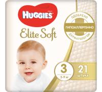 Huggies Подгузники Elite Soft  3 (5-9 кг)  21 шт