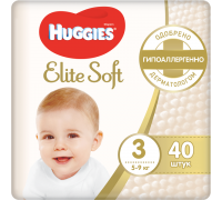 Подгузники Huggies Elite Soft 3 (5-9 кг) 40 шт.