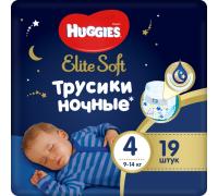 Ночные трусики Huggies® Elite Soft 4 (9-14 кг) 19 шт