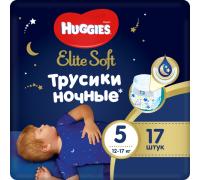 Ночные трусики Huggies® Elite Soft 5 (12-17 кг) 17 шт