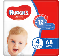Подгузники Huggies Classic 4 (7-18 кг) 68 шт
