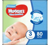 Подгузники Huggies Ultra Comfort для мальчиков 3 (5-9 кг) 80 шт