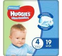Подгузники Huggies Ultra Comfort для мальчиков 4 (8-14 кг) 19шт.