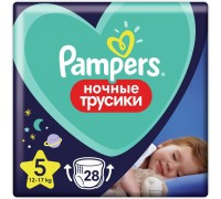 Подгузники-трусики Pampers ночные для мальчиков и девочек 5 12-17кг 28шт