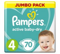 Подгузники Pampers Active Baby-Dry 4 9-14кг 70шт