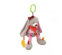 Мягкая развивающая игрушка-подвеска Зайка BB SKY для колясок и автокресел МИКС