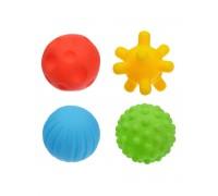 Набор развивающих тактильных мячиков 4 шт в пакете