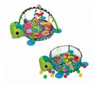 Развивающий коврик с игрушками и шариками  Черепаха