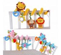 Мягкая развивающая игрушка-подвеска Sozzy для колясок и кроваток МИКС