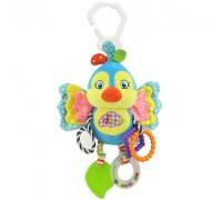 Мягкая развивающая игрушка-подвеска Попугайчик Happy Monkey для колясок и автокресел