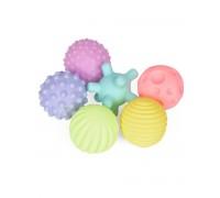 Набор развивающих тактильных мячиков 6 шт в пакете