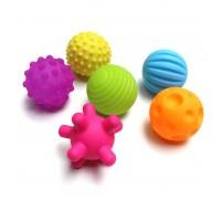 Набор развивающих тактильных мячиков 6 шт