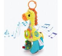Мягкая развивающая игрушка-подвеска Жираф Sozzy для колясок и автокресел