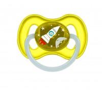 Пустышка латексная круглая SPACE  0-6 мес  Canpol Babies  1 шт BPA- Free 23/221 светящееся кольцо