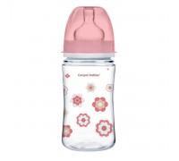 Детская бутылочка  Canpol Babies от 3 месяцев  240 мл розовая