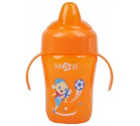 Поильник детский с силиконовым носиком, 240 мл, от 8 мес. цвет микс