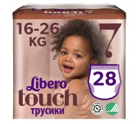 Трусики Libero Touch 7 16-26кг 28шт