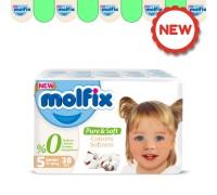 Подгузники  Molfix Pure&Soft 5 (11-18 кг) 38 шт