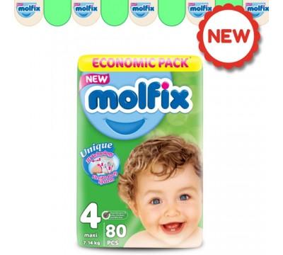 Подгузники Molfix Maxi 4 (7-14 кг) 80 шт