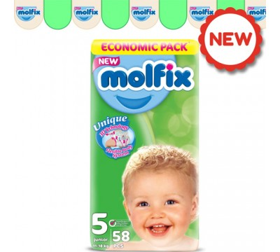 Подгузники Molfix Junior 5 (11-18 кг) 58 шт