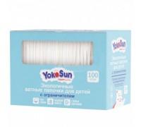 Ватные палочки детские  с ограничителем YokoSun 100 шт