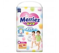Подгузники-трусики Merries XL 12-22 кг 38 шт