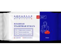 Влажная туалетная бумага Aquaelle medical 72 л С алоэ вера