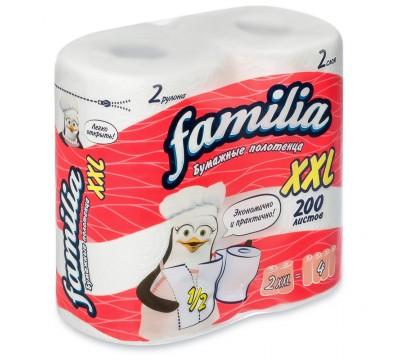 """Бумажные полотенца  """"Familia XXL"""" 2слоя 1 рул/уп"""
