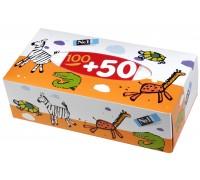 Платочки бумажные Зебра Bella детские вытяжные 150 шт