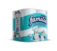 "Бумажные полотенца  ""Familia"" 2х слойные 4 рул/уп"