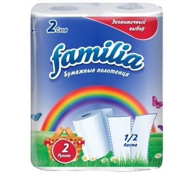"""Бумажные полотенца  """"Familia"""" 2 рул/уп"""