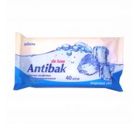 Влажные салфетки Aromika Antibak 40 шт с антибактериальным эффектом (Морской лед)