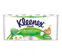 Туалетная бумага Kleenex, трехслойная, 8 рулонов ромашка