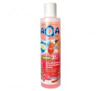 AQA baby шампунь для длинных и непослушных волос с протеином пшеницы и экстрактами трав 210 мл