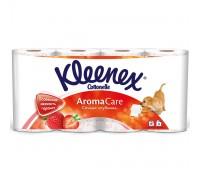 Туалетная бумага Kleenex, трехслойная, 8 рулонов клубника
