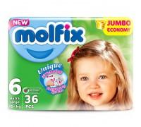 Подгузники Molfix Junior 6 (15+ кг) 36 шт+ салфетки 60 шт