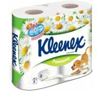 Туалетная бумага Kleenex, трехслойная, 4 рулонов ромашка