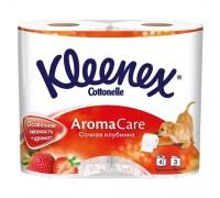 Туалетная бумага Kleenex, трехслойная, 4 рулонов клубника