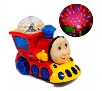 """Музыкальный паровозик """"Томас"""" свет, звук (синий,красный). Арт. YJ388-4"""