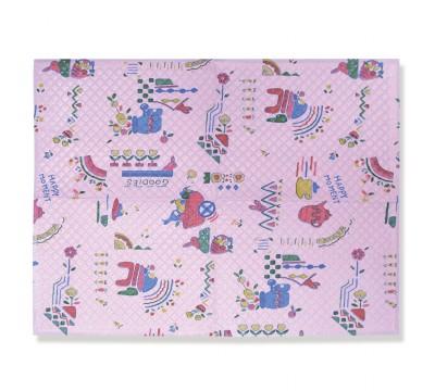 Пелёнка детская на непромокаемой основе Сказка 3315, 59х83 см, цвет роз