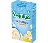 Каша Умница молочная овсяная с бананом 6+