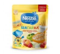 Каша Nestle ШАГАЙКА молочная 5 злаков яблоко-земляника-персик 200г с 12 меcяцев