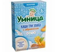 Каша Умница молочная 3 злака с абрикосом 6+